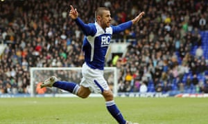 Kevin Phillips celebrates after scoring Birmingham's winner against Wolves