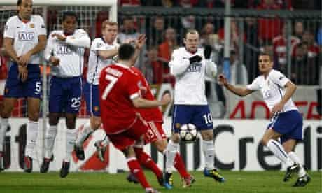 Franck Ribéry, Bayern Munich v Manchester United