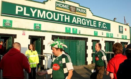 Plymouth fans arrive at Home Park