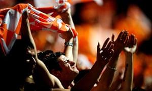 Blackpool fans celebrate