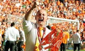 Ian Holloway celebrates
