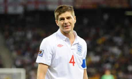 A frustrated Steven Gerrard