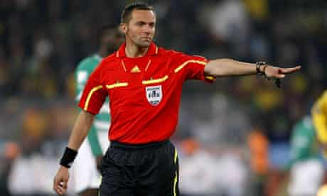 French referee Stéphane Lannoy, who harshly sent off Kaká and missed an apparent Luís Fabiano