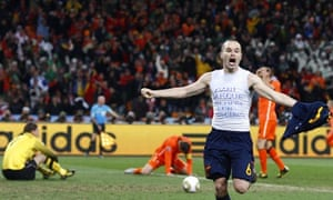 World Cup final: Andres Iniesta celebrates