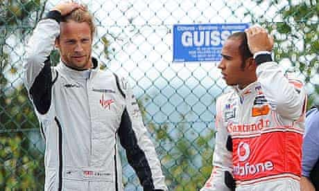 Jenson Button, left, and Lewis Hamilton will have their cars tested before the German grand prix