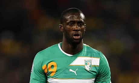 Yaya Touré represented the Ivory Coast at the World Cup in South Africa