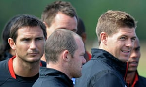 England's Frank Lampard, Wayne Rooney, John Terry and Steven Gerrard can expect to be booed