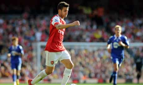 Arsenal's Cesc Fábregas had a hand in three of his team's goals against Bolton on Saturday.