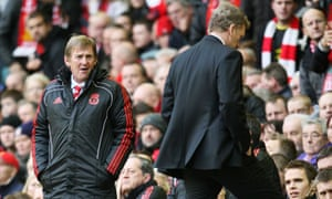 Liverpool manager Kenny Dalglish and Everton manager David Moyes