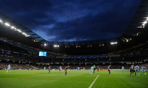 Manchester City's Etihad Stadium during the club's first Champions League tie against Napoli