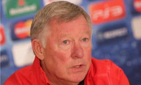 Sir Alex Ferguson talks to the press