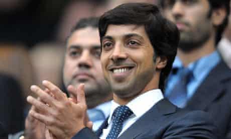 The Manchester City owner Sheikh Mansour bin Zayed Al Nahyan