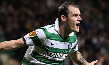 Anthony Stokes, Celtic v Rennes, Europa League
