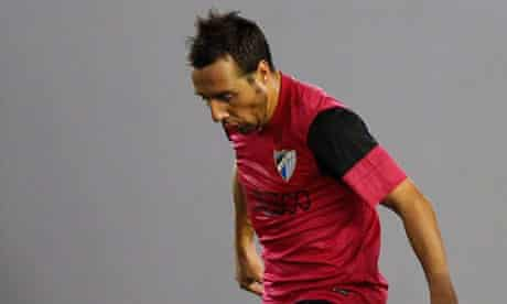 The Malaga midfielder Santo Cazorla