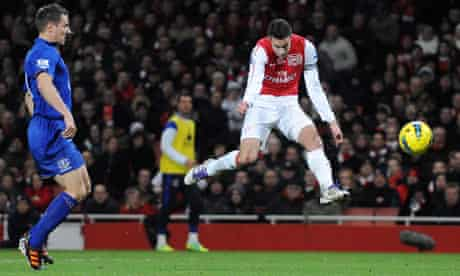 There is nothing quite like the perfect volley, as demonstrated by Arsenal's Robin van Persie