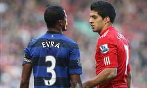 Patrice Evra, left, has seen his reputation come into question during the Luis Suárez case