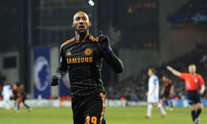 Nicolas Anelka celebrates putting the game to bed for Chelsea against FC Copenhagen