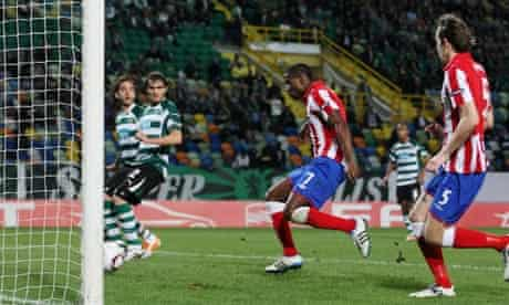 Maurice Edu sent Rangers through to the last 16 of the Europa League at Sporting Lisbon's expense