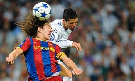 Cristiano Ronaldo and Carles Puyol