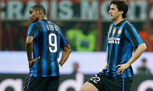 Inter players look on dejected