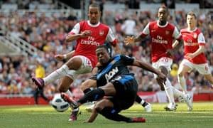Theo Walcott, Arsenal v Manchester United