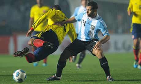 Argentina v Colombia Javier Mascherano