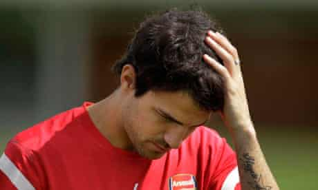 Arsenal's Cesc Fabregas could be on his way to Barcelona after a lengthy transfer transfer saga