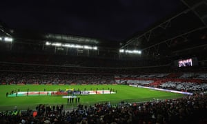 A crowd of 77,128 were inside Wembley for the Euro 2012 qualifier between England and Wales