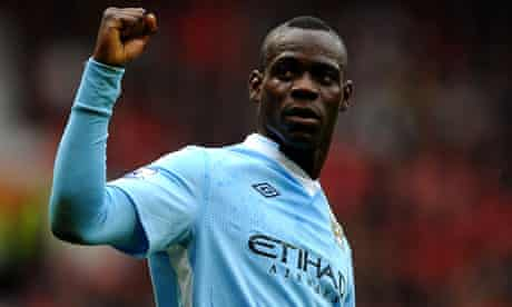 Mario Balotelli played in Manchester City's Carling Cup defeat to Liverpool