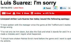 Luis Suárez statement