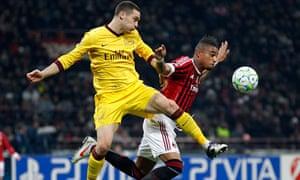 Thomas Vermaelen and Kevin-Prince Boateng, Milan v Arsenal
