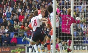Clint Hill's effort for QPR against Bolton disallowed, despite appearing to be well over the line
