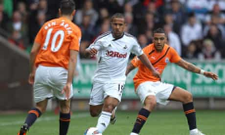 Newcastle were more than happy to let Swansea retain possession at the Liberty Stadium