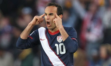 Landon Donovan of the United States will hope to continue his side's good form against Brazil