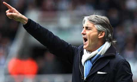 Roberto Mancini, the Manchester City manager, knows the destination of the title rests with his team