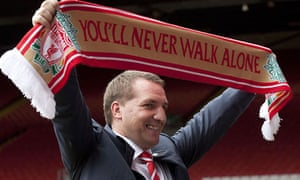 Brendan Rodgers, new Liverpool manager at Anfield