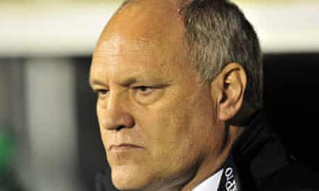 The Fulham manager Martin Jol