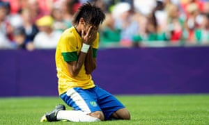 Brazil's Neymar at the end of the Olympic final