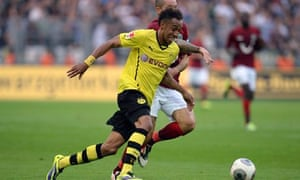 Pierre-Emerick Aubameyang's Borussia Dortmund side face Arsenal in the Champions League on Tuesday