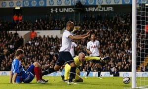 Tottenham's goalkeeper Brad Friedel scores an own goal against Hull City in the Capital One Cup tie