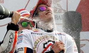 Moto GP's youngest ever winner celebrates