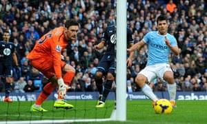 Man City v Spurs, Sergio Aguero