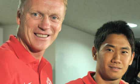 Shinji Kagawa, right, has had little first-team action at Manchester United under David Moyes