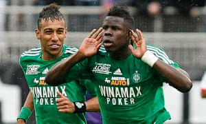 Kurt Zouma, right, is set to sign for Chelsea but be loaned back to St Etienne for this season