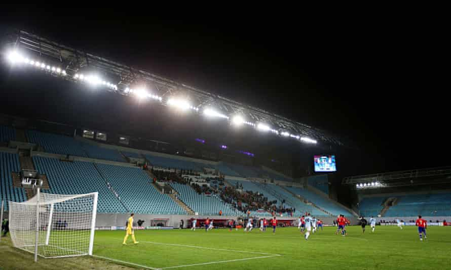 The Champions League match between CSKA Moscow and Manchester City was witnessed by some fans