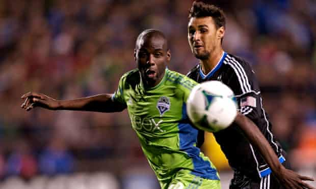 Djimi Traoré's, left, Seattle Sounders go into the MLS Western Conference second-leg tie 1-0 down