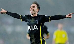 Christian Eriksen scored Tottenham's winner against Swansea City in the Premier League
