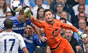 Tottenham Hotspur's Hugo Lloris punches the ball clear against Chelsea earlier this season