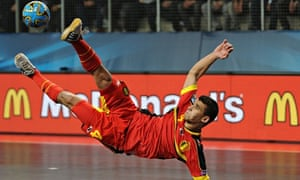 Omar Rahou has been banned for 10 games for making quenelle gestures at the Futsal Euro 2014 event