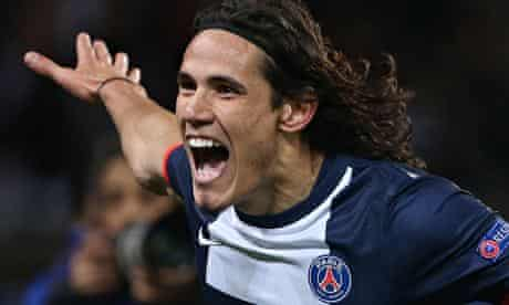 Edinson Cavani of Paris-Saint Germain is one of Manchester United's summer transfer targets